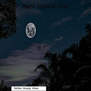 Night tropical blue