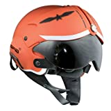 OPEN FACE SCOOTER HELMET OSBE GPA AIRCRAFT TORNADO ORANGE ARMY TR1 UK 55-56CM SMALL