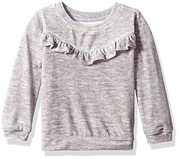 Gymboree Girls  Big Long Sleeve Ruffle Raglan Knit Tee Navy Bouquet 3T