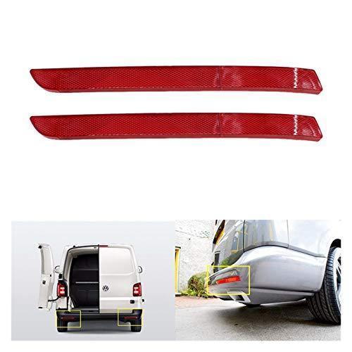 linger Ajuste para el transportista T5 2012-2016 Parachoques Trasero Reflector lámpara de Freno a la luz Trasera reflejar o luz de Freno Ligero (Color : Red)