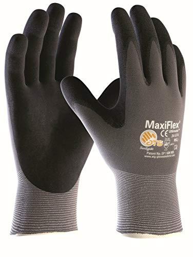 (3 Paar) ATG Handschuhe 34-874 Montagehandschuhe MaxiFlex Ultimate 3 x grau/schwarz 11