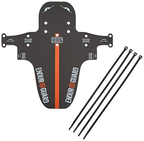 RRP Rapid Racing Enduro, Parafango Bicicletta, Nero (Nero/Arancio), Large (130 - 200 mm)