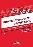 Annales Introduction au droit et droit civil 2020 - Méthodologie & sujets corrigés