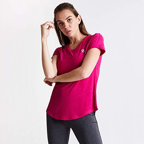 Dare2b vrouwen DWT455 3BK18L Vigilant' lichtgewicht T-shirts/polo's/vesten, actief roze, maat 18