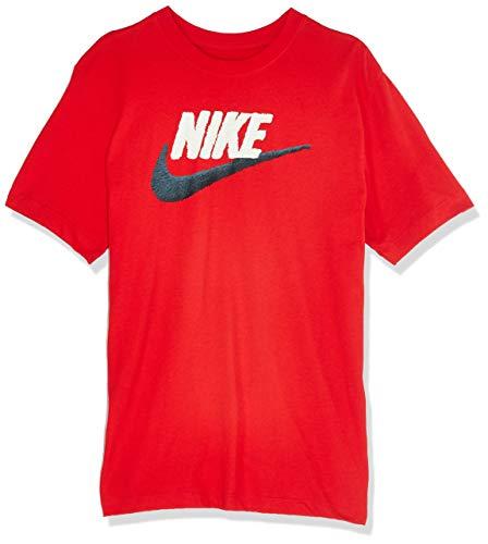 Nike M NSW Tee Brand Mark T-Shirt, Uomo, University Red/Sail/(Black), 2XL