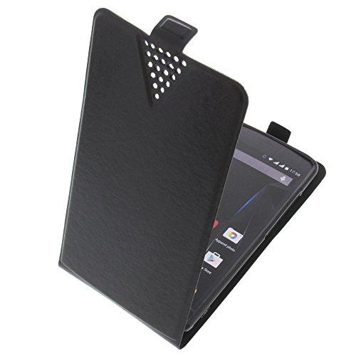 foto-kontor Tasche für Archos 50d Oxygen Plus 50D Oxygen Flip Style Ultra-dünn Schutz Hülle Schwarz