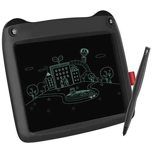 LCD Writing Tablet 9 Inch, Electronic Drawing Board Graphic Tablets with Memory Lock, Handwriting Paperless Notepad Suitable for Home School Office (Black)