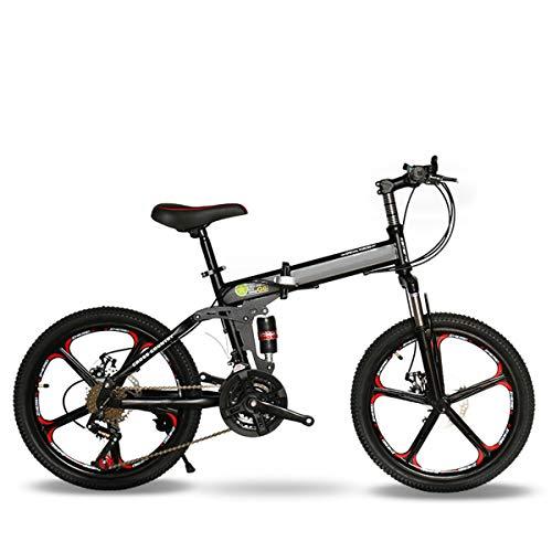 "CEALEONE Bike-to-Go Folding Fahrrad - 20\"" Rad, hinten Hydraulic Shock Aufhängung, Faltbare Pedale, Aluminium-Legierung Fahrrad-Rahmen,Schwarz,27speed"