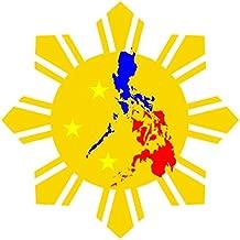 JS Artworks Philippine Flag Sun Star Vinyl Sticker Decal