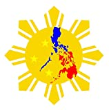 JS Artworks Philippine Flag Sun Star Vinyl Sticker Decal