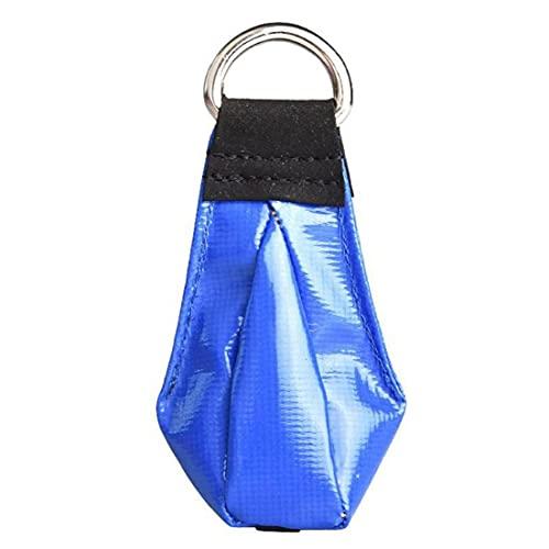 Bolso de cuerda de lanzamiento, bolsa de arena, bolso de peso de escalada en el exterior, material confiable (sin cuerda) azul