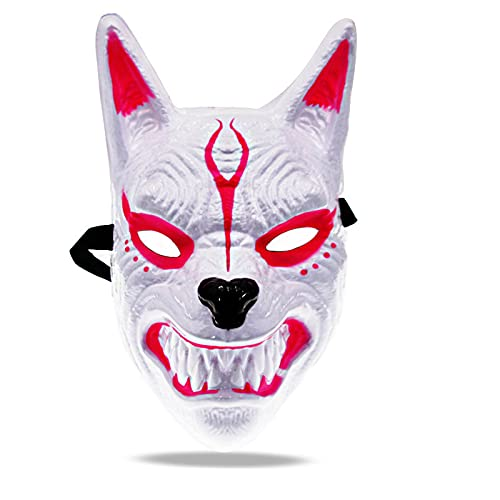 WANLN Máscara De Halloween, Máscara De Cabeza De Lobo Aterradora De Terror Máscara Espeluznante, Disfraz De Fiesta De Disfraces De Halloween Cosplay