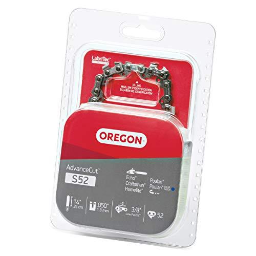 Oregon S52 AdvanceCut 14-Inch Chainsaw Chain Fits Craftsman, Echo, Homelite, Poulan, 1 Pack, grey