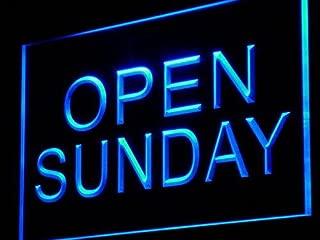 PEMA Neon Sign i449-b Open Sunday Neon Light sign