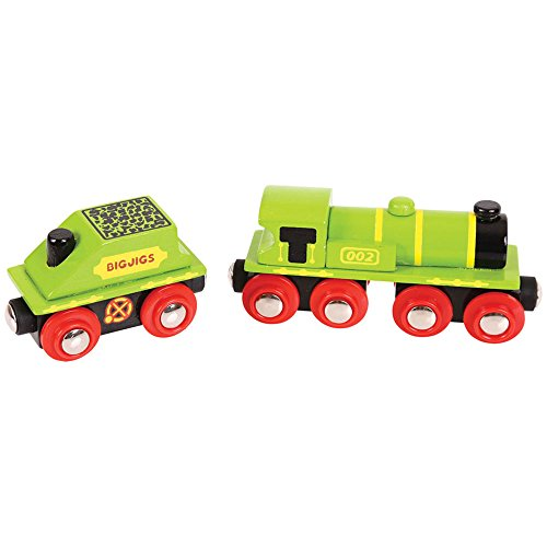 Bigjigs Rail Grosse Locomotive Verte