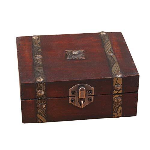 Goodevening Caja De Madera Cofre del Estilo Vintage Hecha A Mano - Cof