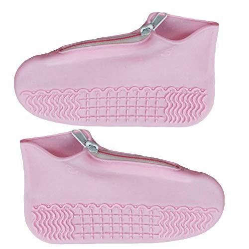 Sonline Fundas Impermeables para Zapatos Cubiertas para Zapatos para Lluvia Protectores de Silicona Antideslizante para Zapatos Duraderos y Reutilizables Cubierta Rosada XL