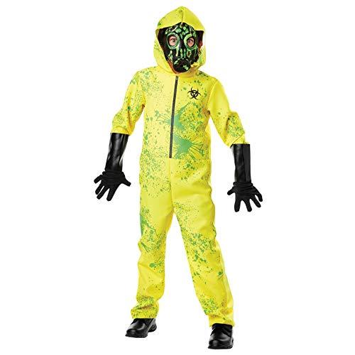 Neusky Kinder Kostüm Perfektes Kostüm + Maske + die Handschuhe für Halloween, Weihnachten, Karneval oder Mottoparties (Kinder-Gelb-Grün, M/125-140cm)