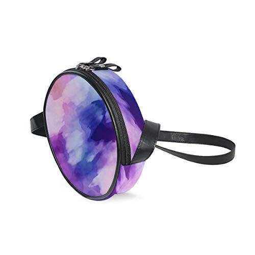Lorona Aquarellpapier malen bunte runde Umhängetasche Schultertasche Handtasche Handtasche Schultertasche Schultertasche für Kinder Frauen