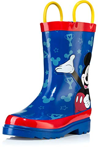 Disney Mickey Mouse Blue and Red Rain Boots - Size 11 Little Kid