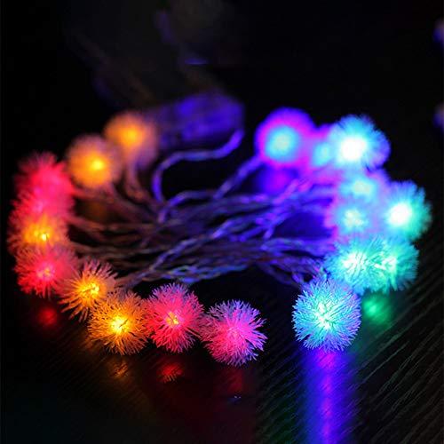 ShangSky - Guirnalda de luces LED (20 ledes, 8 modos de iluminación, bolas de nieve, resistentes al agua, para decoración de Navidad, bodas, cumpleaños, fiestas, interiores y exteriores