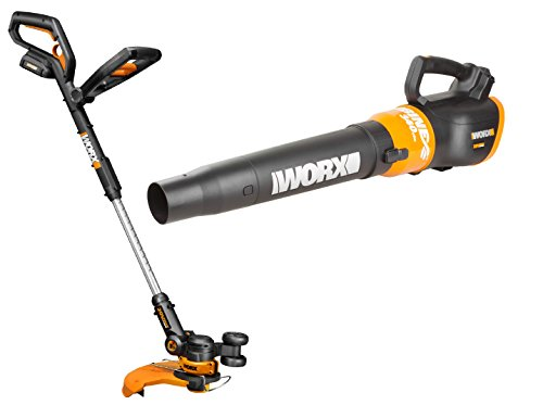 WORX WO7022 20V PowerShare GT 2.0 Grass Trimmer and Turbine Cordless Battery-Powered Leaf Blower...