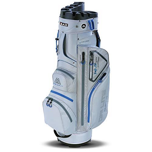 Big Max Dri Lite Silencio Cartbag - Wasserabweisende Golftasche Silber