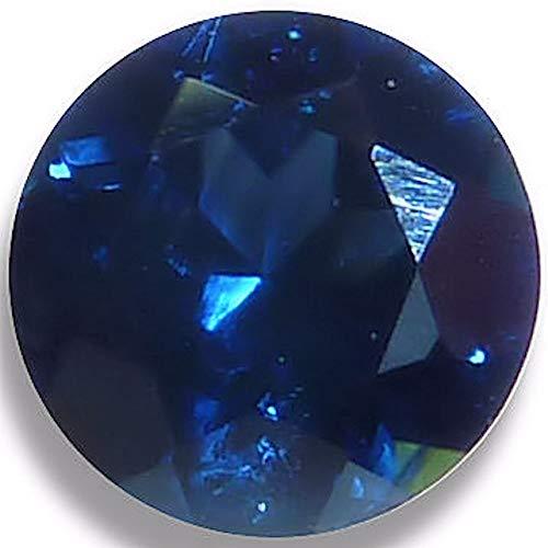 Optima Gem Natur Saphir Blau Brillant Rund Lose Nicht Gesetzt Gem 4mm Dunkelblau