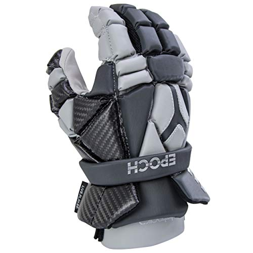 Epoch Integra Lacrosse Glove with Phase Change Technology for Attack, Middie and Defensemen, Large, Grey