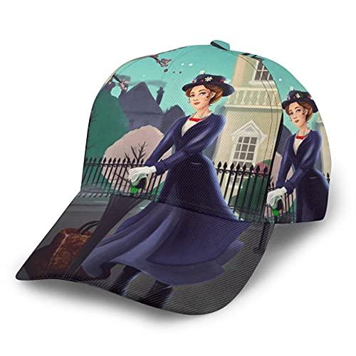 Mary Poppins Baseball Cap Hip Hop Classic Regolabile Track and Field Sport Tempo Libero Esecuzione Outdoor Uomini Donne Nero
