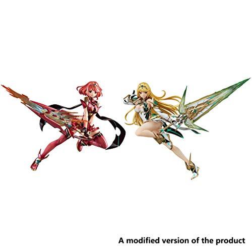 Huangyingui Xenoblade Chronicles 2: Pyra PVC Figure - Mythra PVC Figure (Set of 2)