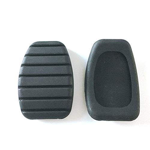 AWQC Pedal del Coche 1pc Coche de Embrague y Pedal de Freno Cubierta de Cadena de Goma Compatible con Renault Megane Laguna Clio Kango Accesorios de Estilo CY PCY (Negro) Aluminio