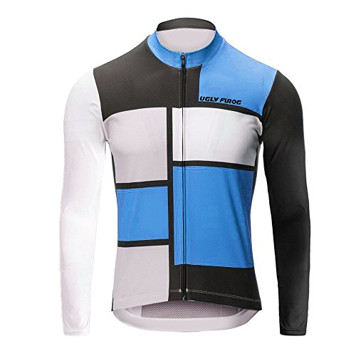 Uglyfrog 2018-2019 Rennrad MTB Winter Fahrrad Trikot Langarm Herren Warmes with Fleece Element Thermo Gemütlich Jersey Winterbekleidung Stilaktualisierung