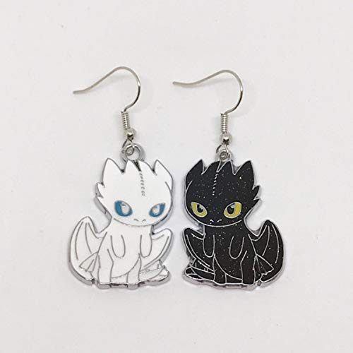 How To Train Your Dragon Inspired Luna And Toothless Large Earrings