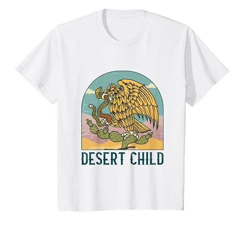 Niños Desert Niño Vintage Niños Mexican Eagle Southwest Cactus Camiseta