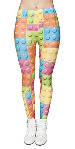 Queenshiny® Damen wetlook latexlook Ganzkörper Leggings Hohe Taille Leder Optik (One-size, Punkt)