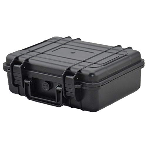N / A Tool Case,Microphone Camera Photography Carry Storage Box,Portable Waterproof Outdoor Instrument Kit Moisture-Proof Explosion-Proof Shock-Proof Box Black
