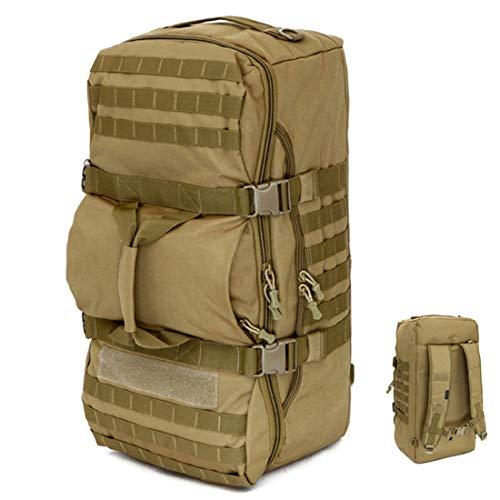 LYRAL 60L Cross-Corps Crossbody Portable Rucksack Outdoorer Tactique Militaire Sac À Dos Randonnée Camouflage Camping Sac De Sport,Marron