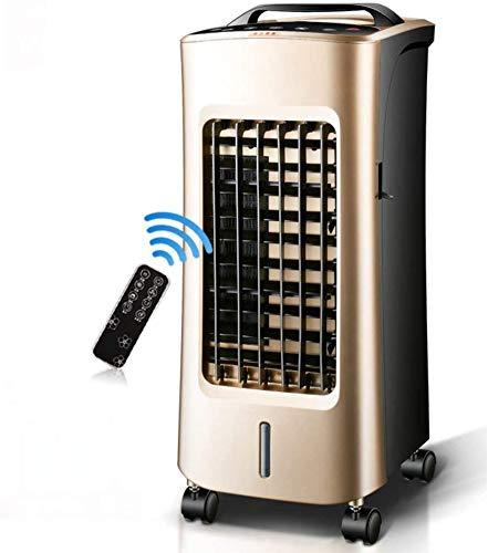 Knoijijuo Aire Acondicionado Ventiladores Silencioso Silencioso Aire Acondicionado, Enfriador Evaporativo con Mando A Distancia Dos Frentes para 4 Volantes Frías Y Más Frías De Aire Caliente