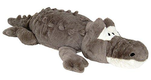 Wagner 6033 - XXL Plüschtier Krokodil Alligator - 120 cm Gross Plüschkrokodil Stoffkrokodil Plüsch grau