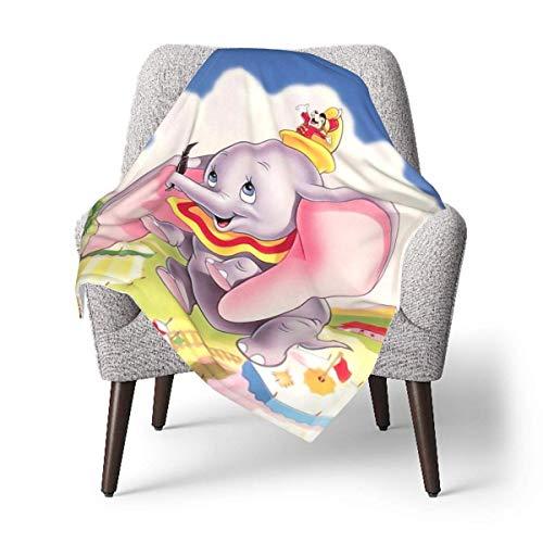 Hdadwy Manta de bebé Dumbo o manta mullida para niños, manta unisex para cuna, sofá, silla, sala de estar, viaje, súper suave, cálida, manta para niños, talla única