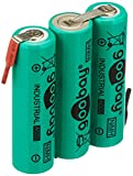 Goobay 3x AA (Mignon)–2100mAh; 3x AA (Mignon)–2100mAh, Verde–Soldadura (Z), de níquel Metal hidruro batería (NiMH), 3,6V