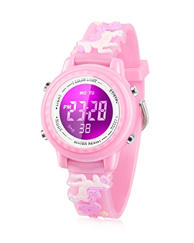 Viposoon Gifts for 5-12 Years Old Girls, Led Digital Watches for Kids Birthday Presents Gifts for 3 4 5 6 7 8 9 10 Year Old Girls Xmas Gifts for 4-10 Year Old Kids