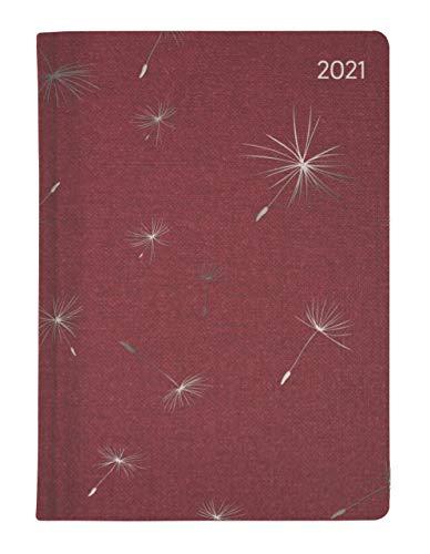 Ladytimer Glamour Blowballs 2021 - Taschen-Kalender A6 - Weekly - 192 Seiten - Metallicprägung Pusteblumen - Notiz-Buch - Alpha Edition