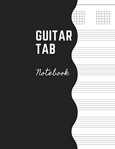 """Guitar Tab Notebook: Music Paper Sheet For Guitarist And Musicians - Wide Staff Tab -Large Size 8,5 x 11""""の詳細を見る"""