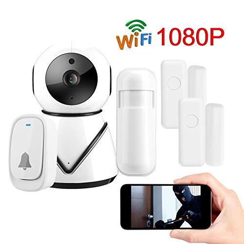 Hakeeta HD-bewakingscamera, draadloze WiFi-bewakingscamera voor thuisgebruik met bewegingsdetectie voor ONVIF, bewaking op afstand en WhatsApp-beelduitwisseling, baby-/huisdierbewaking Nanny-camera, Ue