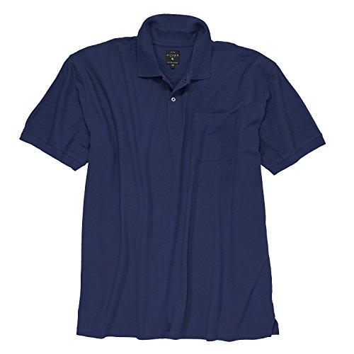 Kitaro Dunkelblaues Poloshirt Übergrößen bis 9XL, Größe:7XL