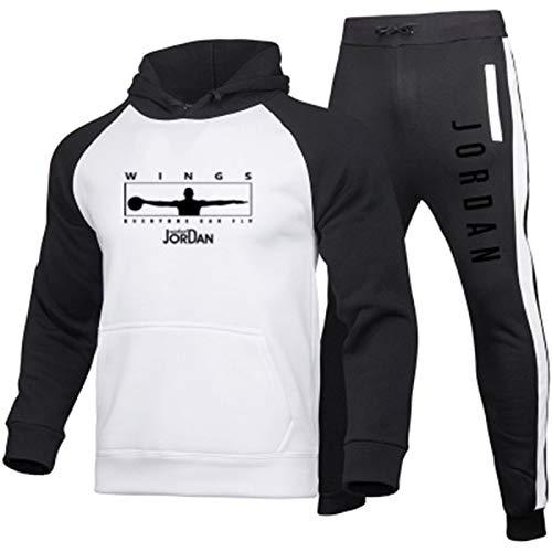 HAUYZ Baloncesto Sportswear Sportswear + Pantalones Set-Jordan Jersey Unisex Sudax, Sopleosa Unisex, S-3XL White-XL
