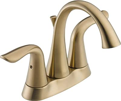 Delta Faucet Lahara 2-Handle Centerset Bathroom Faucet with Diamond Seal Technology and Metal Drain Assembly, Champagne Bronze 2538-CZMPU-DST