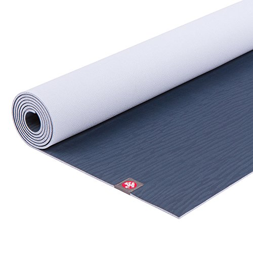 Manduka eKO Yoga Mat – Premium 5mm Thick Mat, Eco Friendly and Made from Natural Tree Rubber.  Ultimate Catch Grip for Superior Traction, Dense Cushioning for Support and Stability in Yoga, Pilates, and General Fitness.